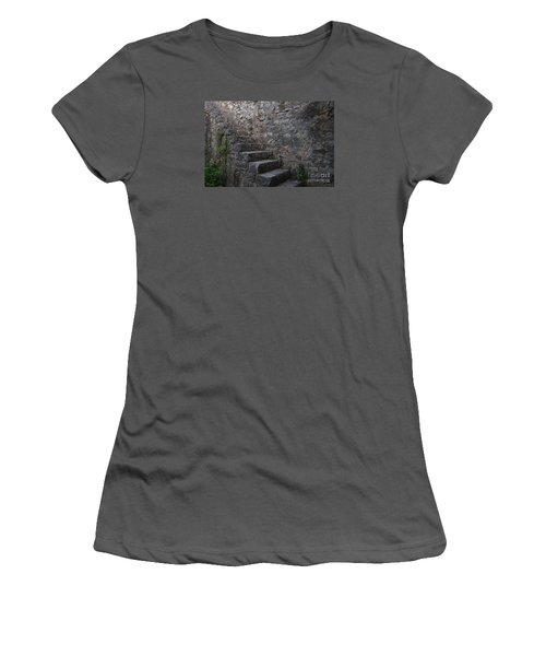 Medieval Wall Staircase Women's T-Shirt (Junior Cut) by Angelo DeVal