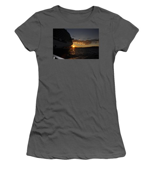 Mediterranean Sunset Women's T-Shirt (Athletic Fit)