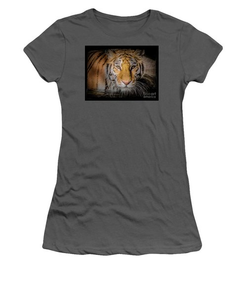 Meet My Gaze Women's T-Shirt (Athletic Fit)