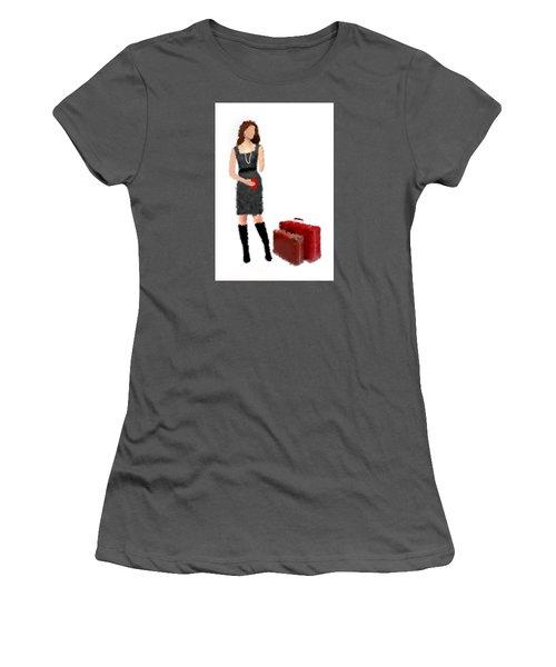 Women's T-Shirt (Junior Cut) featuring the digital art Melanie by Nancy Levan