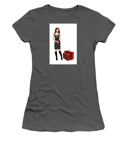 Women's T-Shirt (Athletic Fit) featuring the digital art Melanie by Nancy Levan