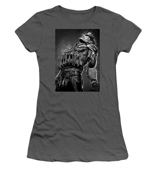Women's T-Shirt (Junior Cut) featuring the digital art Metal Gear Solid by Taylan Apukovska