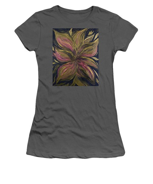 Metallic Flower Women's T-Shirt (Athletic Fit)