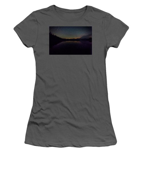 Meteor Over Chocorua Lake Women's T-Shirt (Athletic Fit)