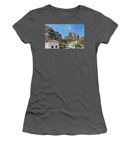 Meteora In Greece Women's T-Shirt (Junior Cut) by Arik Baltinester