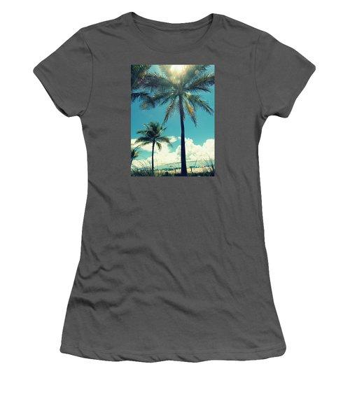 Miami Beach Women's T-Shirt (Junior Cut) by France Laliberte