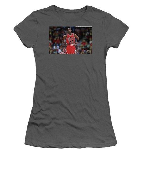 Michael Jordan, Number 23, Chicago Bulls Women's T-Shirt (Junior Cut) by Thomas Pollart
