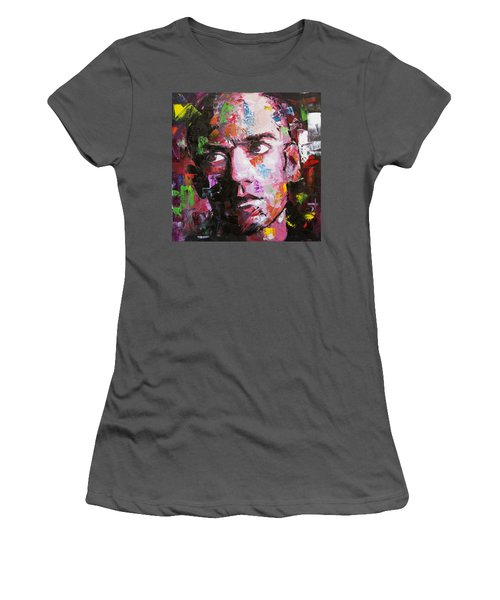 Women's T-Shirt (Junior Cut) featuring the painting Michael Stipe by Richard Day