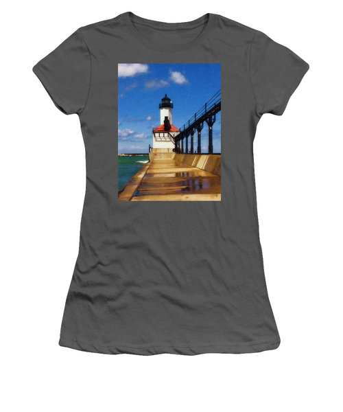 Michigan City Light 1 Women's T-Shirt (Athletic Fit)