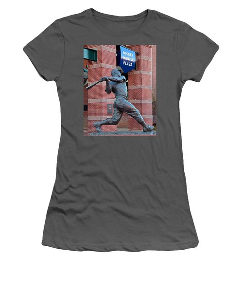Mickey Mantle Women's T-Shirt (Junior Cut) by Frozen in Time Fine Art Photography