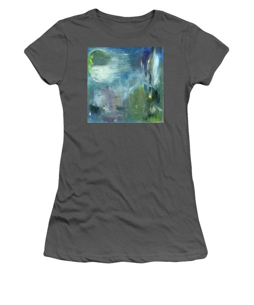 Women's T-Shirt (Junior Cut) featuring the painting Mid-day Reflection by Michal Mitak Mahgerefteh