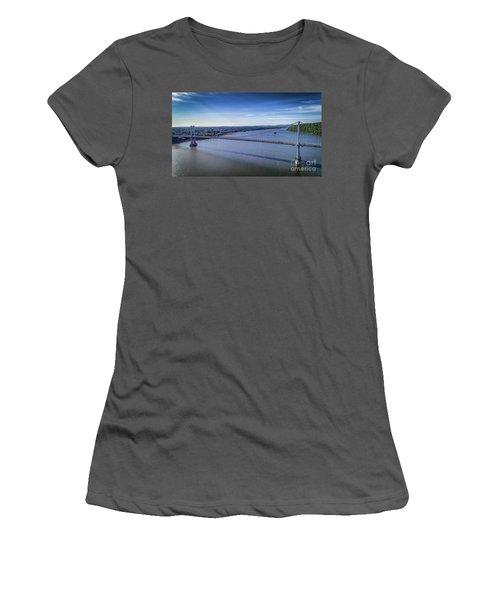 Mid-hudson Bridge In Spring Women's T-Shirt (Athletic Fit)