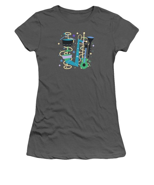 Midcentury Modern Fifties Jazz Composition Women's T-Shirt (Athletic Fit)