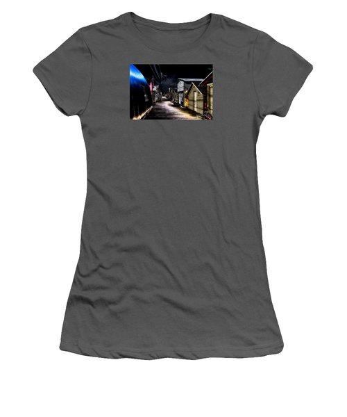 Midnight At The Boathouse Women's T-Shirt (Junior Cut) by William Norton