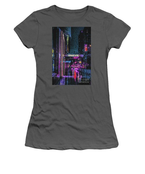 Midnight At Tiffany Painting Women's T-Shirt (Athletic Fit)