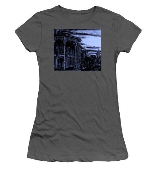 Midnight On Main Street Disney World Mp Women's T-Shirt (Junior Cut) by Thomas Woolworth