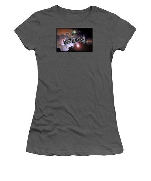 Women's T-Shirt (Junior Cut) featuring the photograph Midnight Rider by Amanda Vouglas