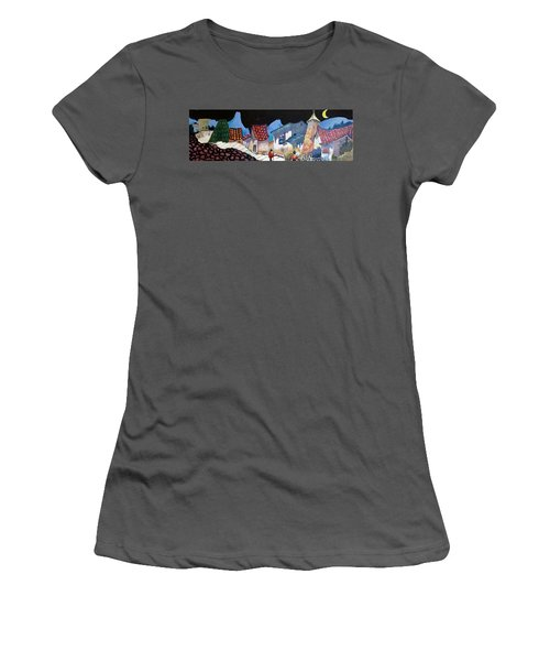 Midnight Walk In Peru Women's T-Shirt (Athletic Fit)