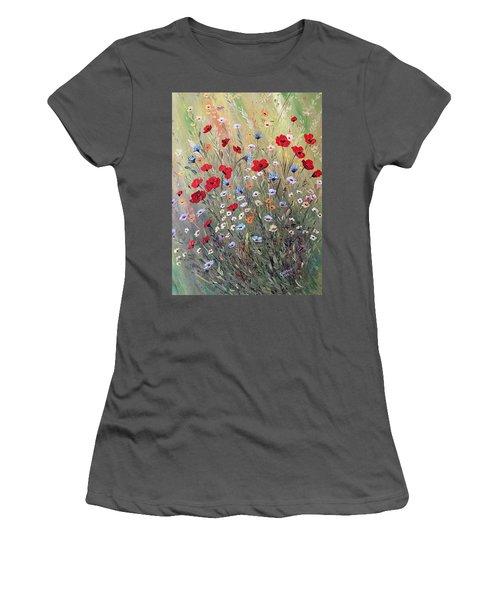 Midsummer Poppies Women's T-Shirt (Junior Cut) by Dorothy Maier
