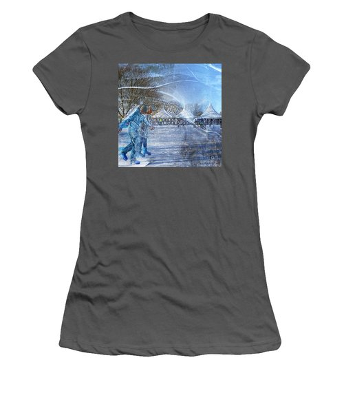 Midwinter Blues Women's T-Shirt (Junior Cut) by LemonArt Photography