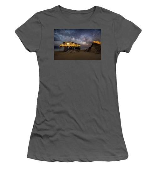 Milky Way Beach House Women's T-Shirt (Athletic Fit)