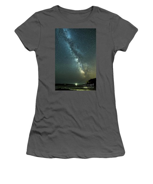 Milky Way Over Clams Flats Women's T-Shirt (Athletic Fit)