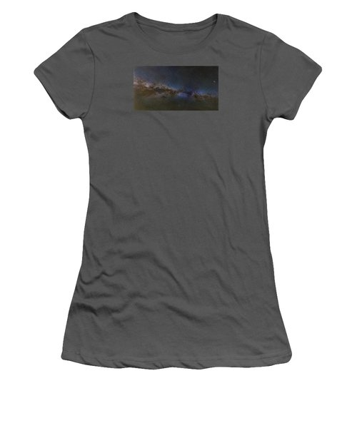 Women's T-Shirt (Junior Cut) featuring the photograph Milky Way South by Charles Warren