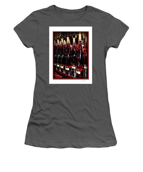 Women's T-Shirt (Junior Cut) featuring the photograph Miner Pink Sparkling Wine by Joan  Minchak