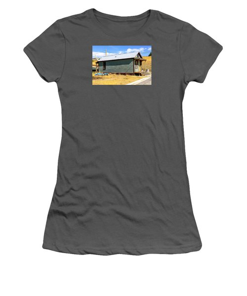 Miners Shack In Montana Women's T-Shirt (Junior Cut) by Chris Smith