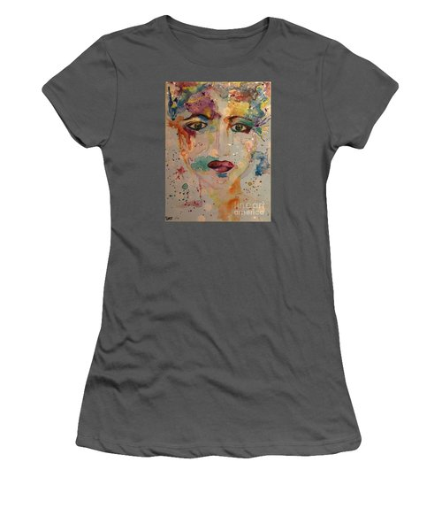 Women's T-Shirt (Junior Cut) featuring the painting Minerva by Denise Tomasura