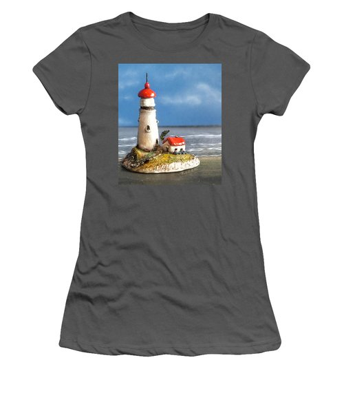 Miniature Lighthouse Women's T-Shirt (Junior Cut) by Wendy McKennon