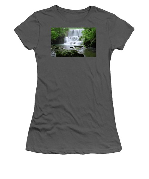 Women's T-Shirt (Junior Cut) featuring the photograph Mirror Lake by Renee Hardison