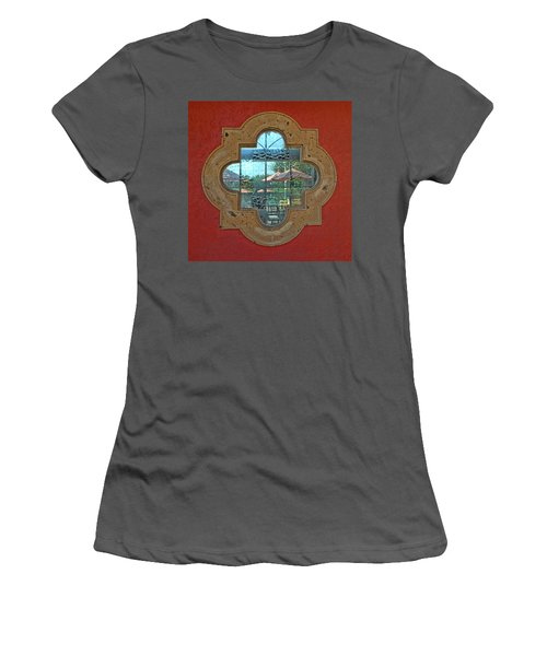 Mirrored Window Women's T-Shirt (Athletic Fit)