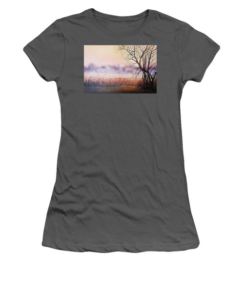 Mist On The River Women's T-Shirt (Athletic Fit)