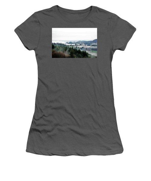 Mist Rising Women's T-Shirt (Athletic Fit)