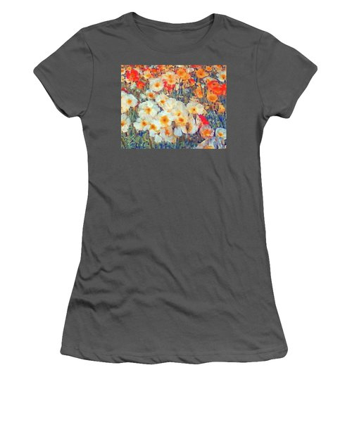 Mixed Poppies Women's T-Shirt (Athletic Fit)