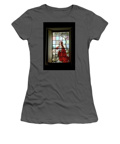 Mokuaikaua Church Stained Glass Window Women's T-Shirt (Athletic Fit)