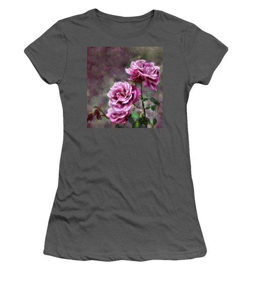 Women's T-Shirt (Junior Cut) featuring the digital art Moms Roses by Susan Kinney