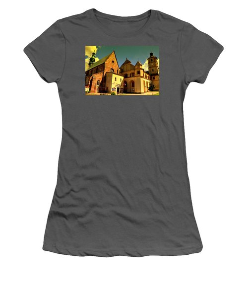 Monastery In The Wachock/poland Women's T-Shirt (Athletic Fit)
