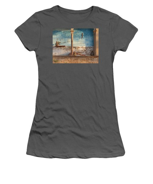 Women's T-Shirt (Junior Cut) featuring the photograph Monkeys At Sunset by Jean luc Comperat