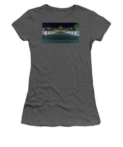 Monona Terrace Women's T-Shirt (Junior Cut) by Randy Scherkenbach