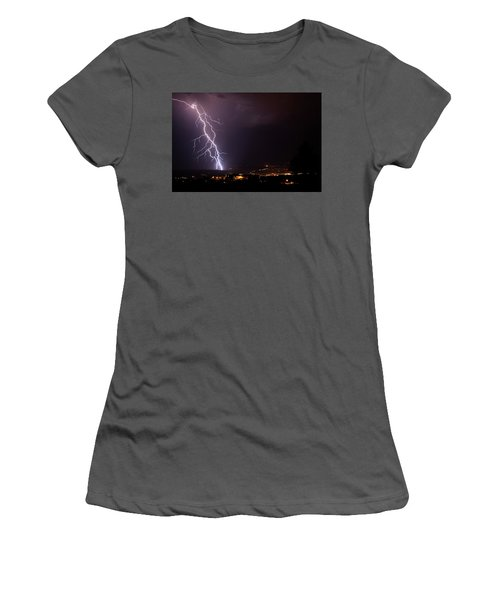 Monsoon Storm Women's T-Shirt (Junior Cut) by Ron Chilston
