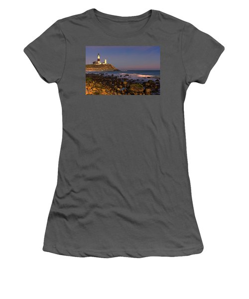 Montauk Lighthouse Women's T-Shirt (Athletic Fit)