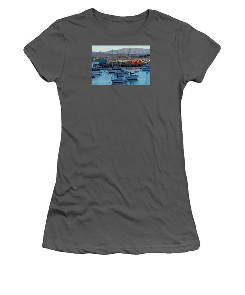 Monterey Wharf At Sunset Women's T-Shirt (Athletic Fit)