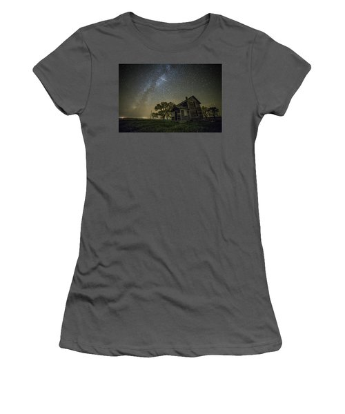 Women's T-Shirt (Junior Cut) featuring the photograph Montrose Orionid by Aaron J Groen