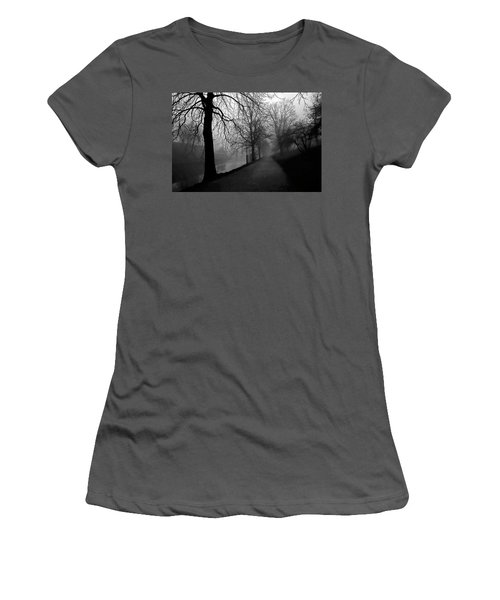 Moody And Misty Morning Women's T-Shirt (Junior Cut) by Inge Riis McDonald
