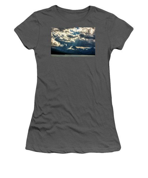 Moody Sunrays Over Glacier National Park Women's T-Shirt (Athletic Fit)