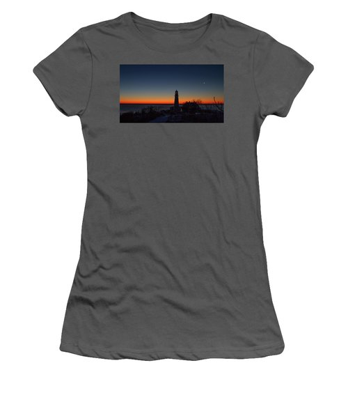 Moon And Venus - Headlight Sunrise Women's T-Shirt (Athletic Fit)