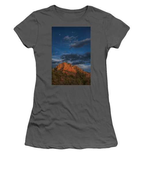 Moon Over Sedona Women's T-Shirt (Athletic Fit)