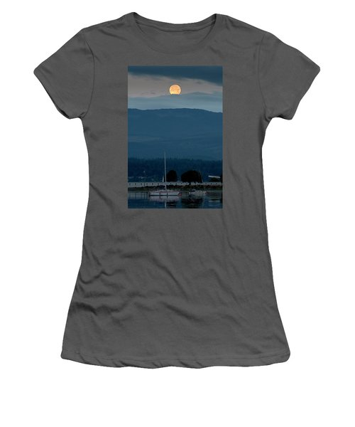 Moon Over The Spit Women's T-Shirt (Athletic Fit)